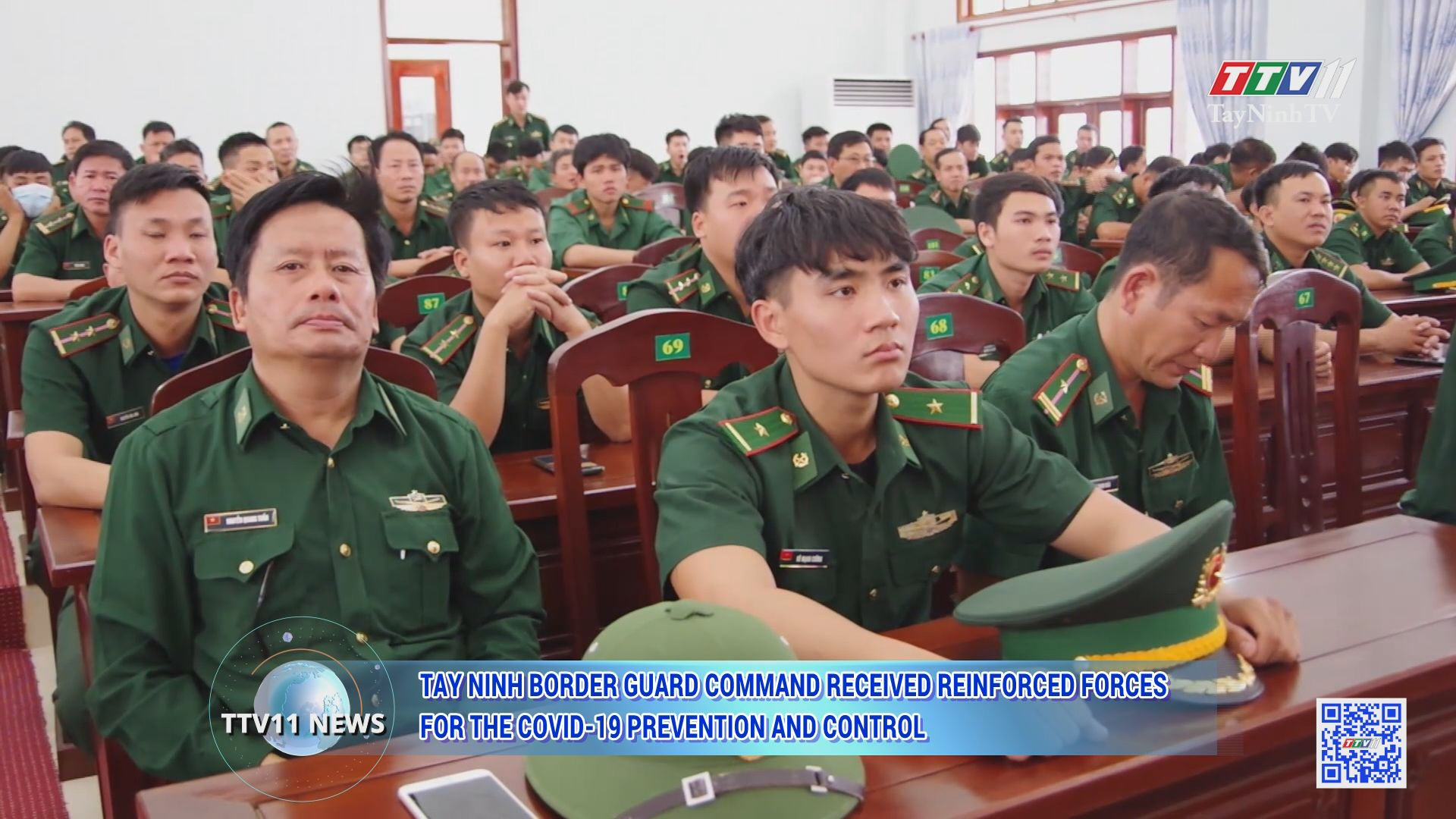 Tay Ninh Border Guard Command received reinforced forces for the COVID-19 prevention and control | TTVNEWS | TayNinhTV Today