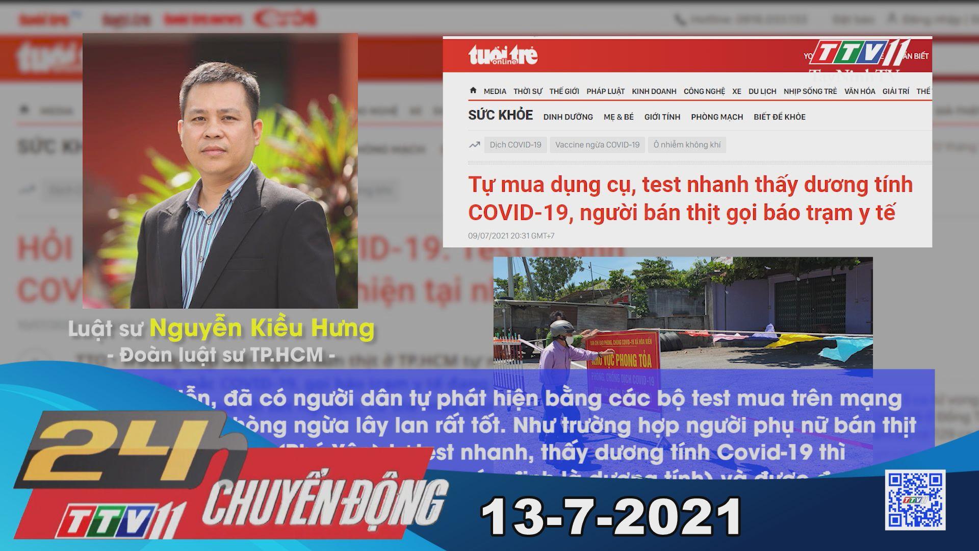 24h Chuyển động 13-7-2021 | Tin tức hôm nay | TayNinhTV