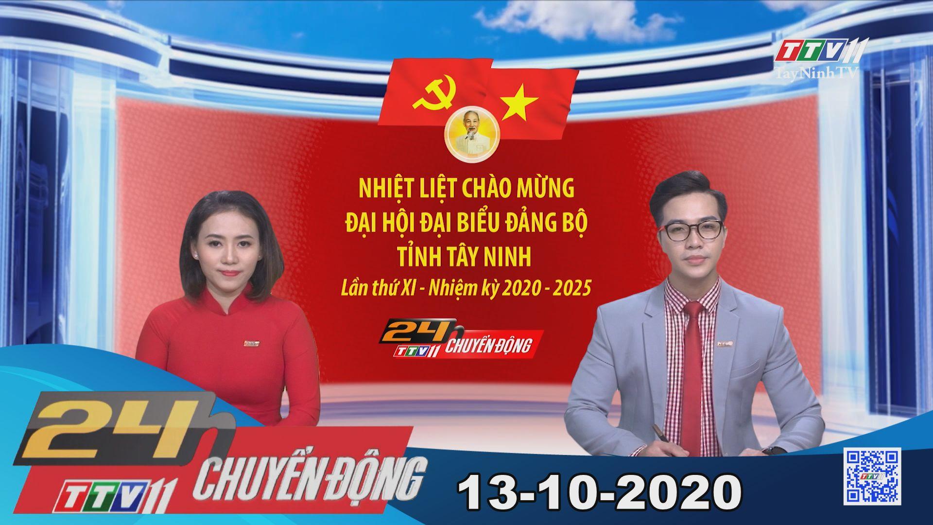 24h Chuyển động 13-10-2020 | Tin tức hôm nay | TayNinhTV