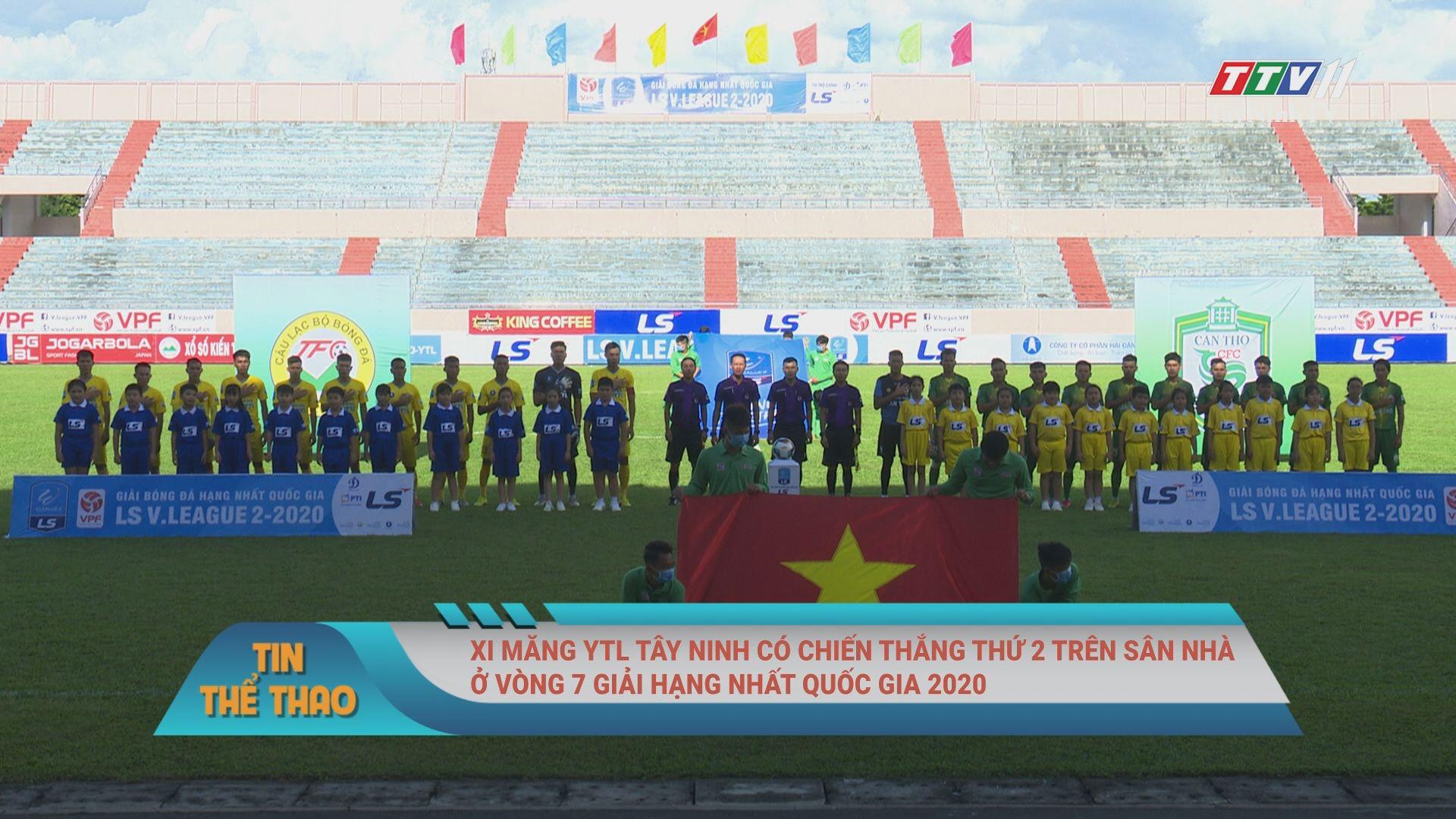Xi măng YTL Tây Ninh có chiến thắng thứ 2 trên sân nhà ở vòng 7 giải Hạng nhất Quốc gia 2020 | BẢN TIN THỂ THAO | TayNinhTV