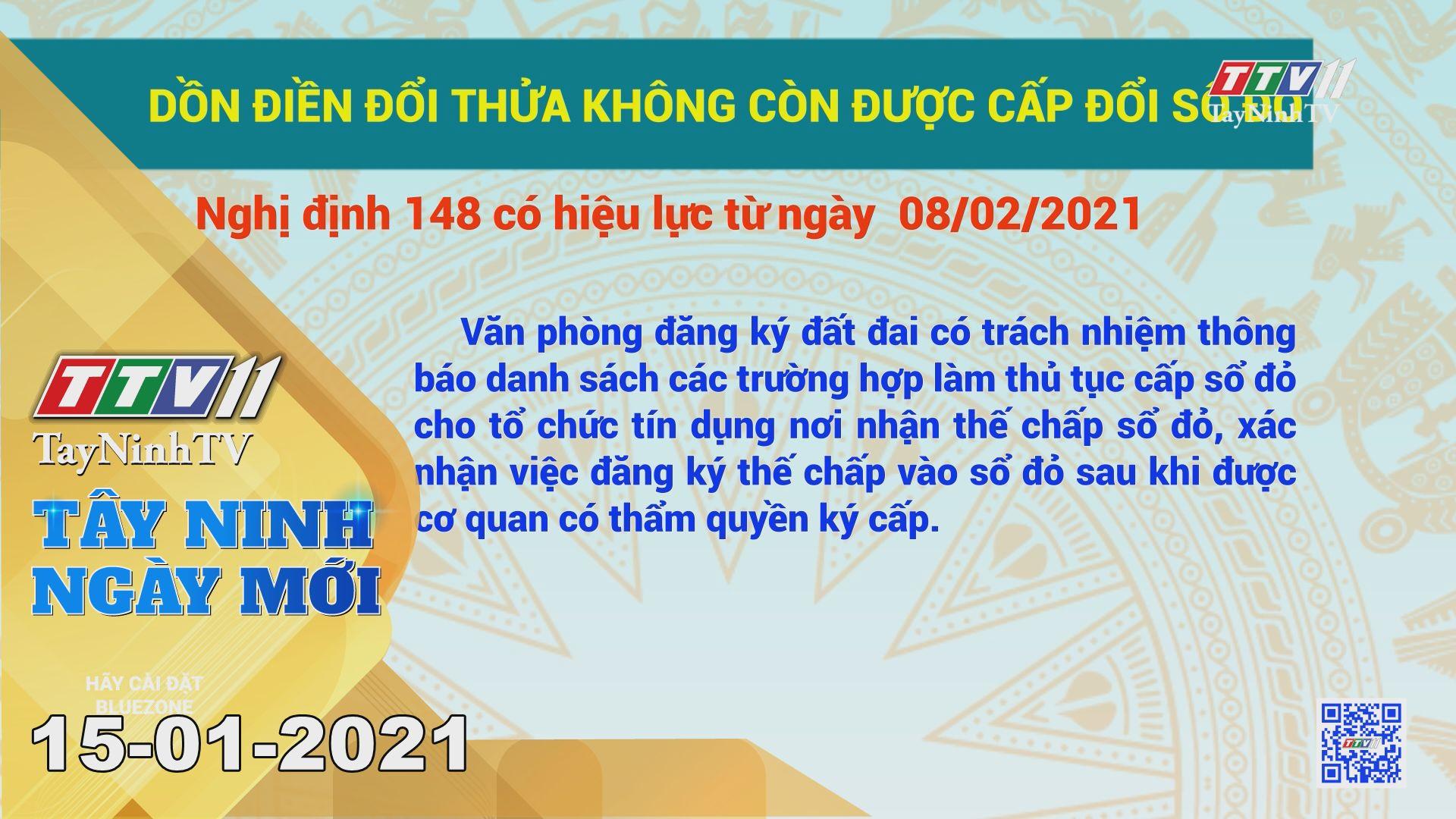 Tây Ninh Ngày Mới 15-01-2021 | Tin tức hôm nay | TayNinhTV