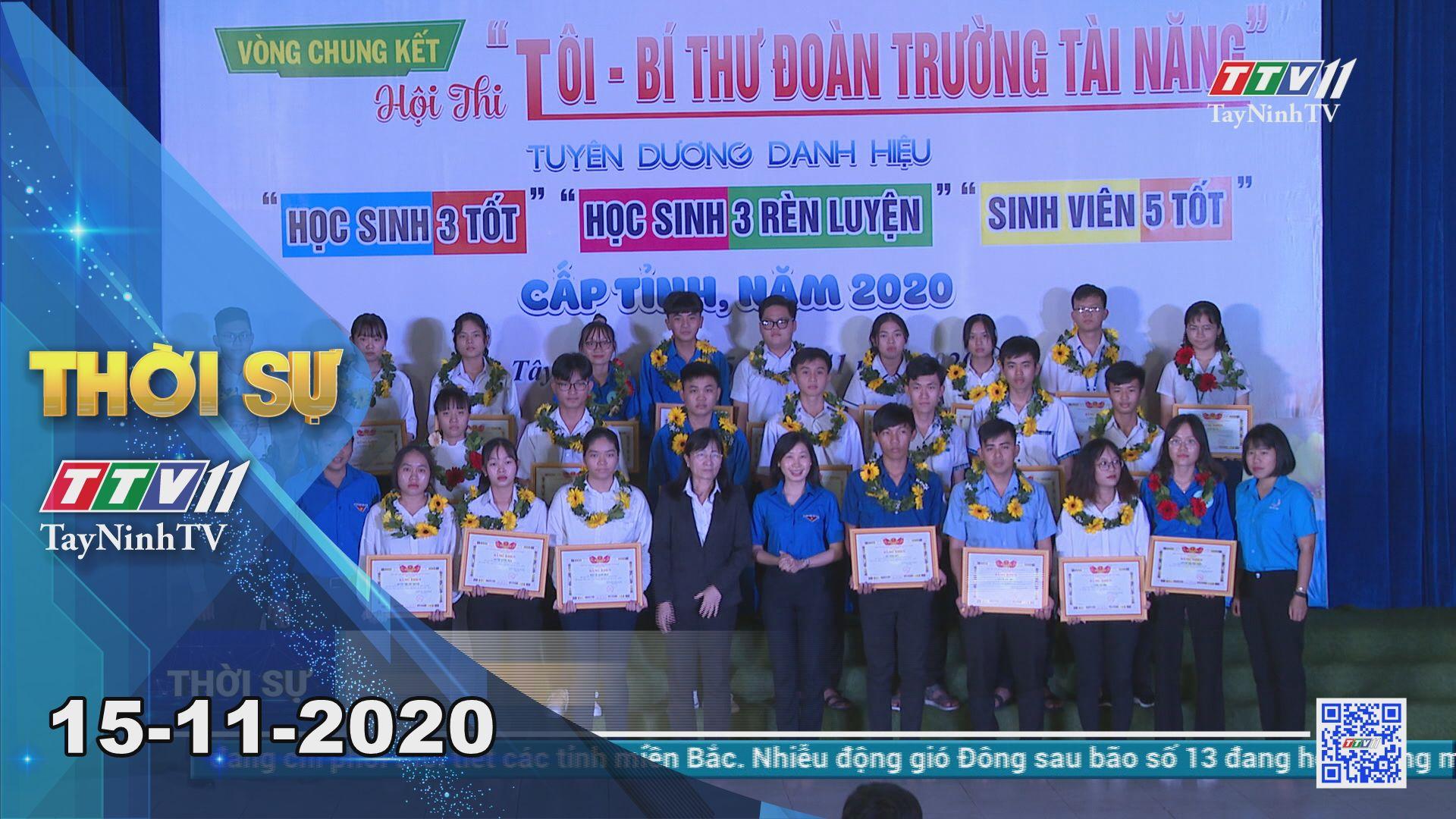 Thời sự Tây Ninh 15-11-2020 | Tin tức hôm nay | TayNinhTV
