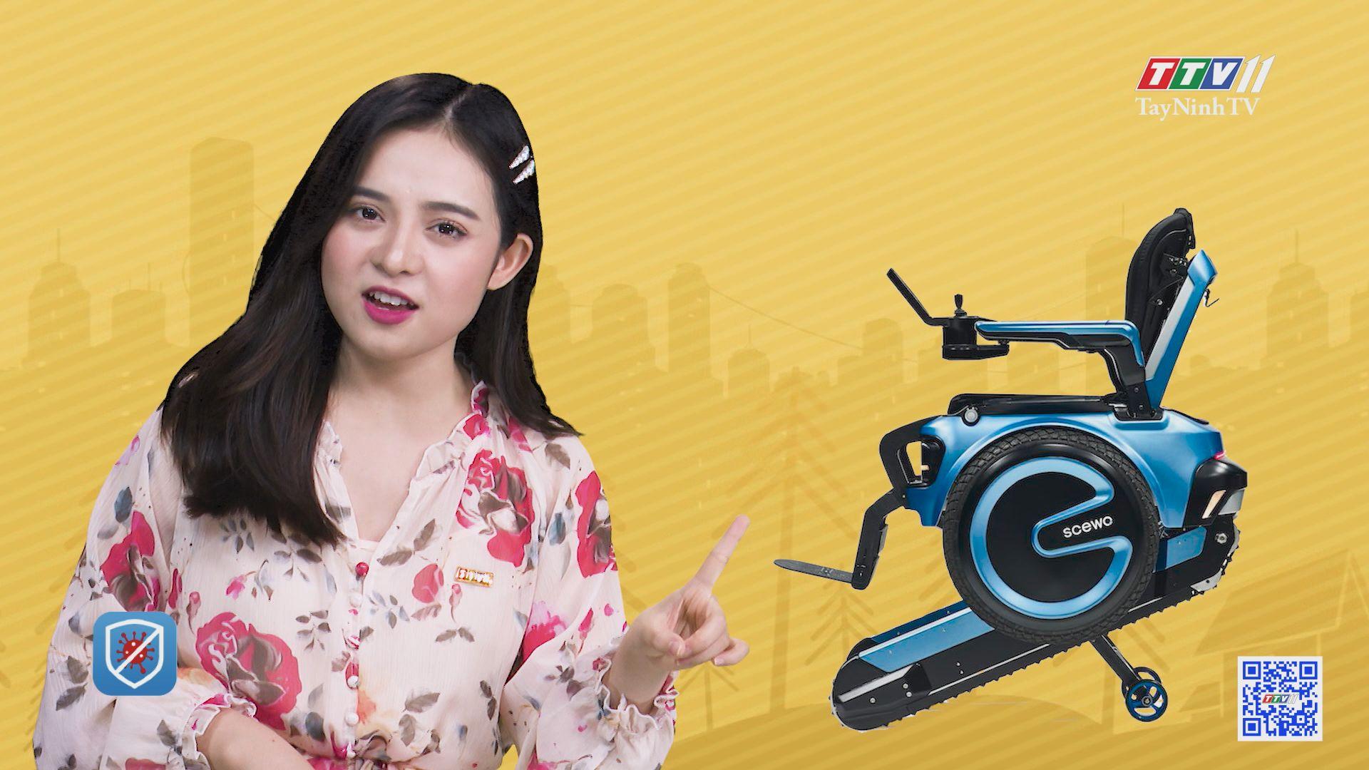 Xe lăn điện có thể leo cầu thang bộ | CHUYỆN ĐÔNG TÂY KỲ THÚ | TayNinhTV