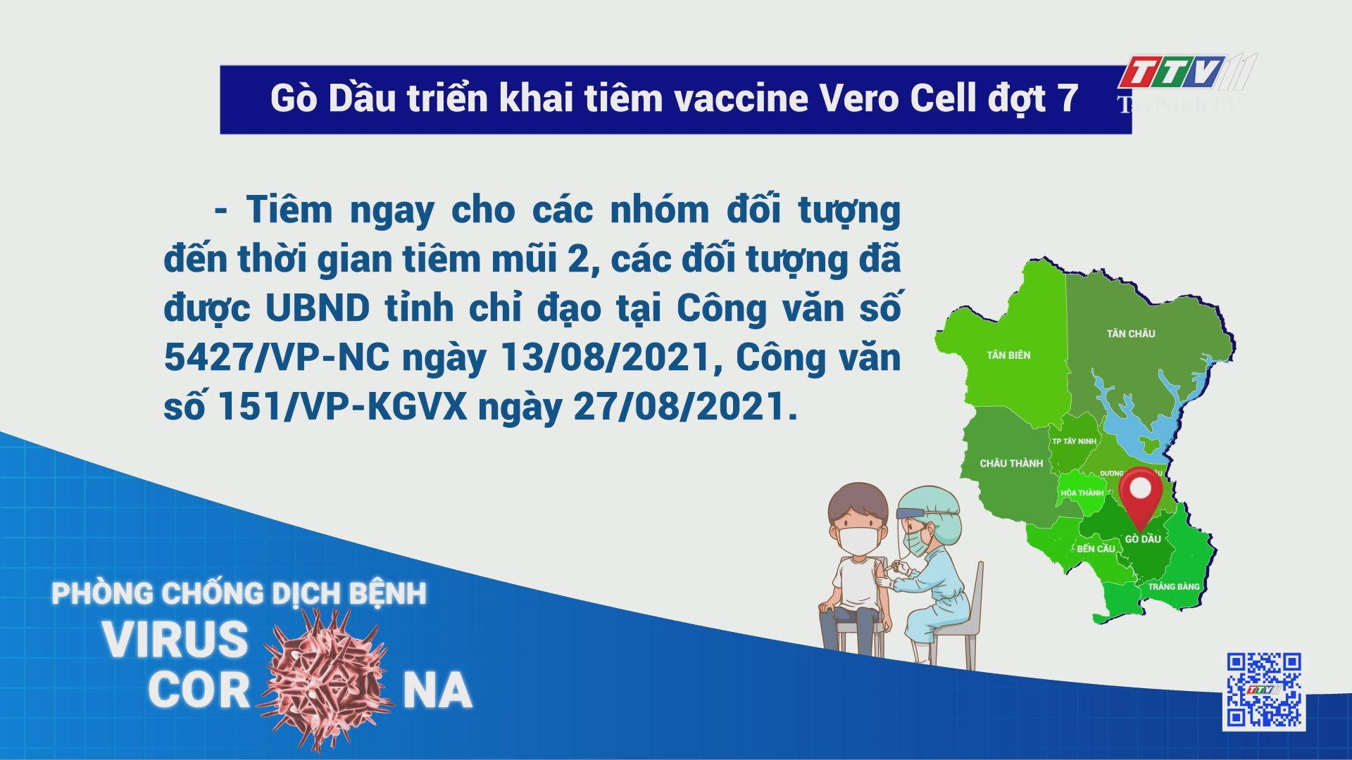 Gò Dầu triển khai tiêm vaccine Vero Cell đợt 7 | THÔNG TIN DỊCH COVID-19 | TayNinhTV
