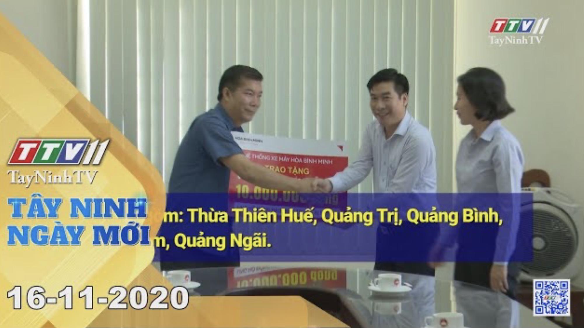 Tây Ninh Ngày Mới 16-11-2020 | Tin tức hôm nay | TayNinhTV