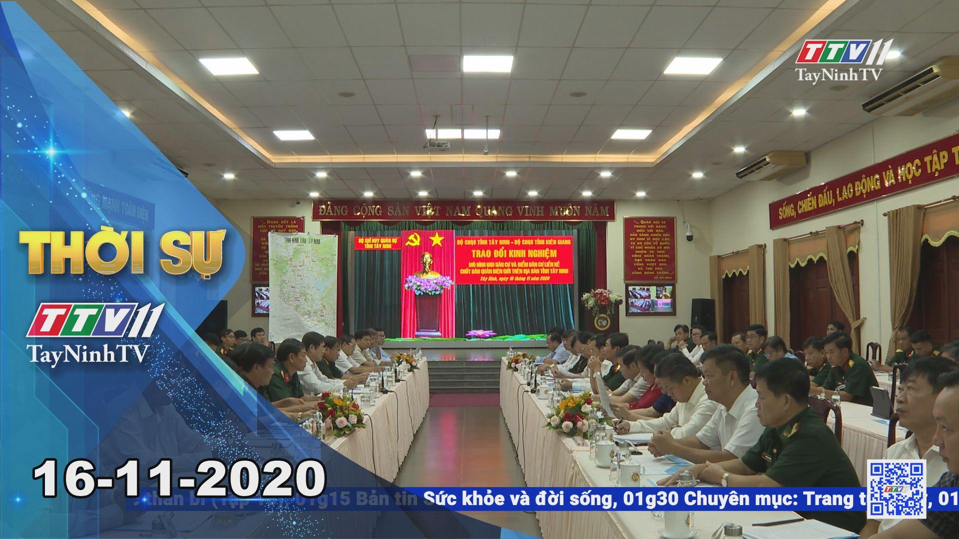 Thời sự Tây Ninh 16-11-2020 | Tin tức hôm nay | TayNinhTV