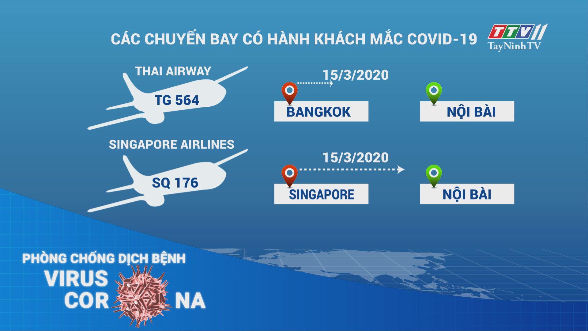 Chuyến bay có hành khách mắc Covid-19 | THÔNG TIN DỊCH CÚM COVID-19 | TayNinhTV