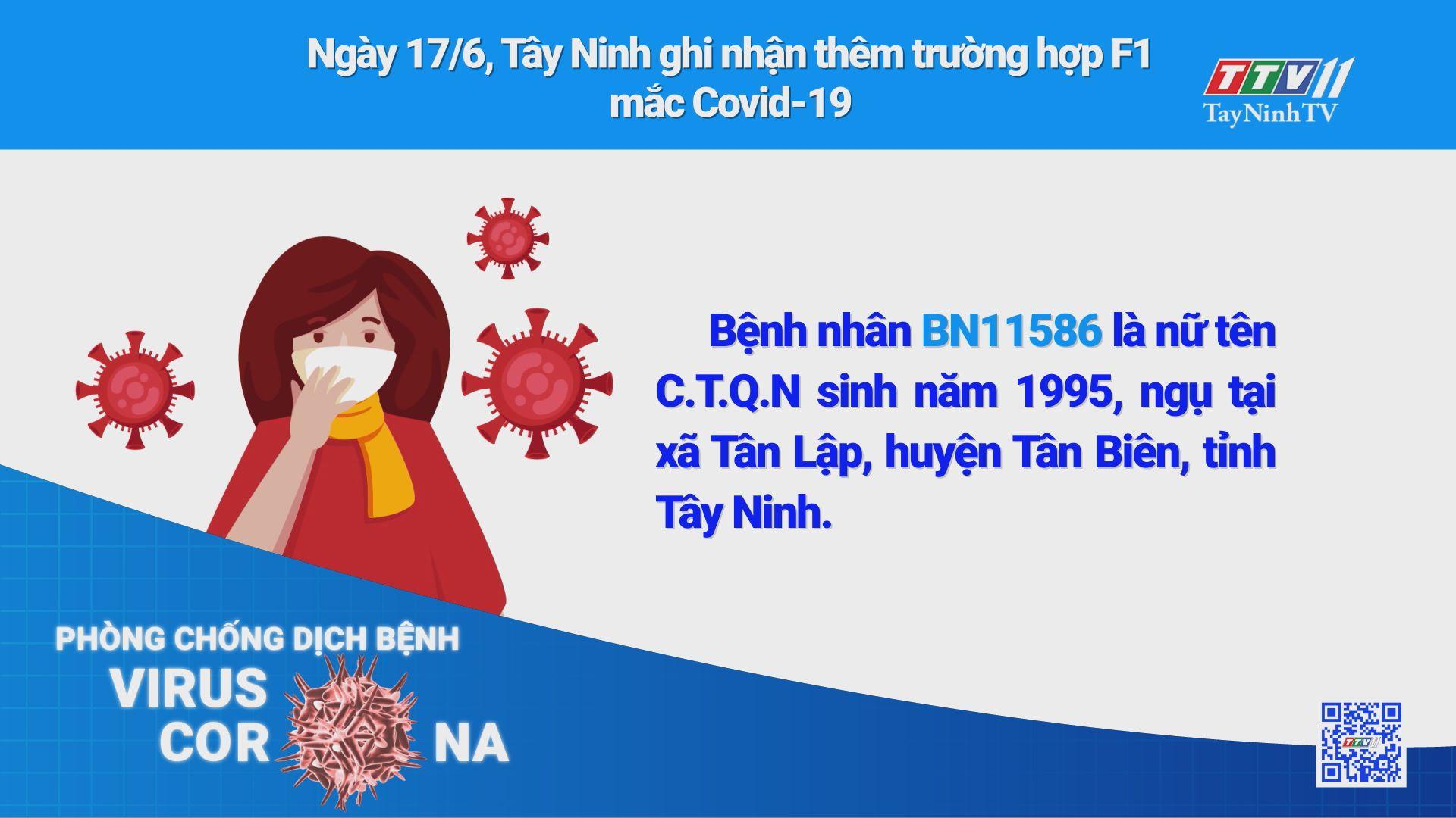 Ngày 17/6, Tây Ninh ghi nhận thêm 1 trường hợp dương tính với Virus SARS-CoV-2 | THÔNG TIN DỊCH CÚM COVID-19 | TayNinhTV