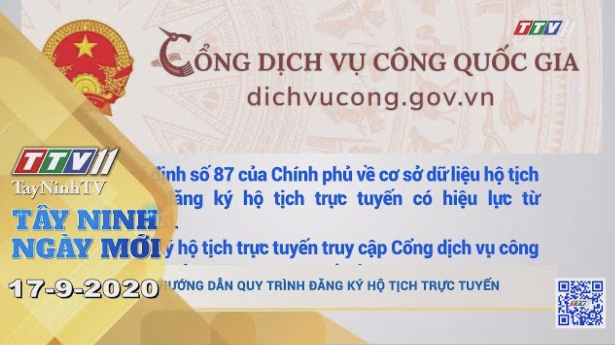 Tây Ninh Ngày Mới 17-9-2020 | Tin tức hôm nay | TayNinhTV