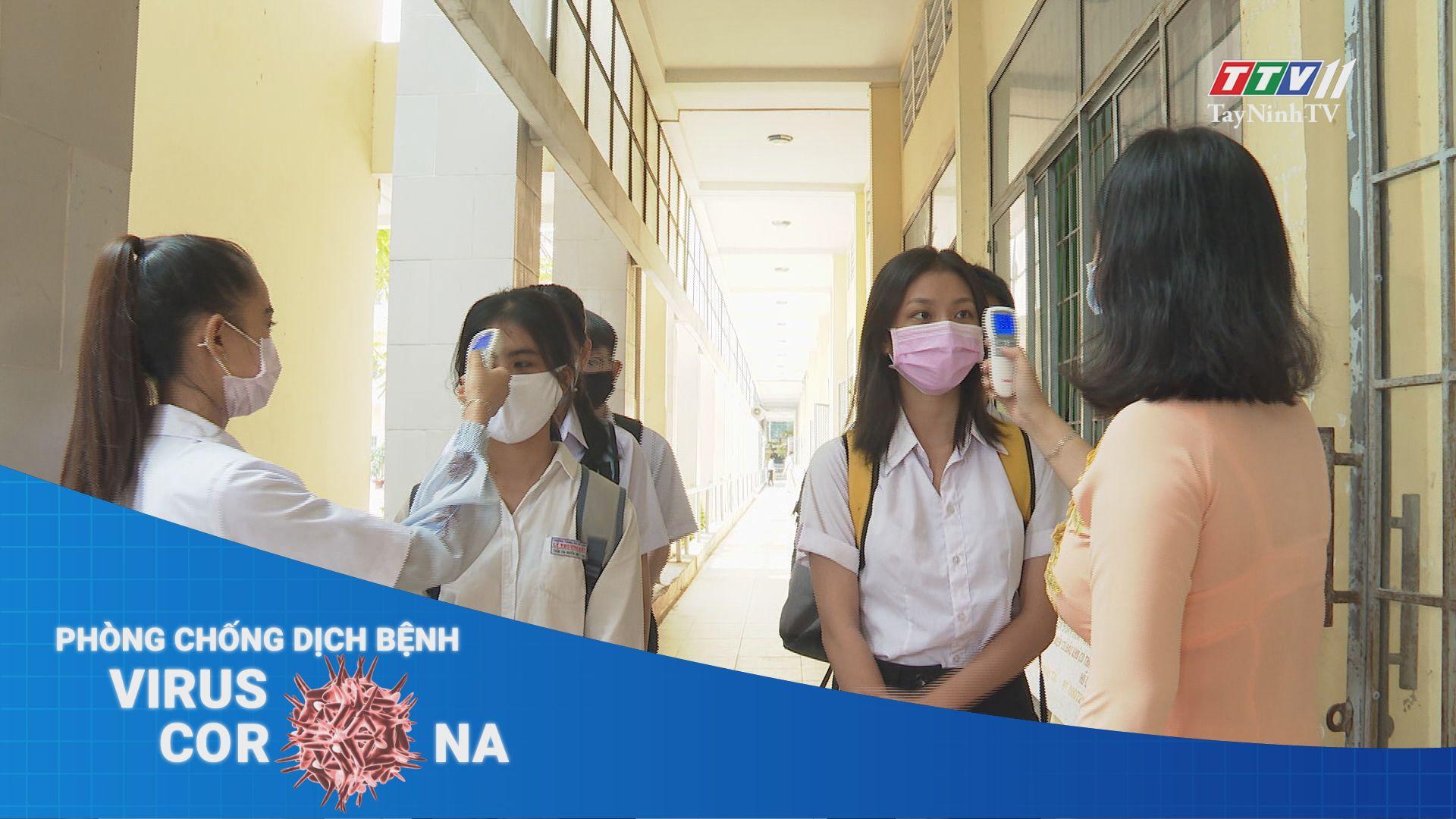 Hình thành thói quen đeo khẩu trang khi đến lớp của học sinh THPT | THÔNG TIN DỊCH CÚM COVID-19 | TayNinhTV
