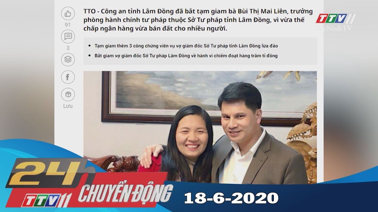 24h Chuyển động 18-6-2020   Tin tức hôm nay   TayNinhTV