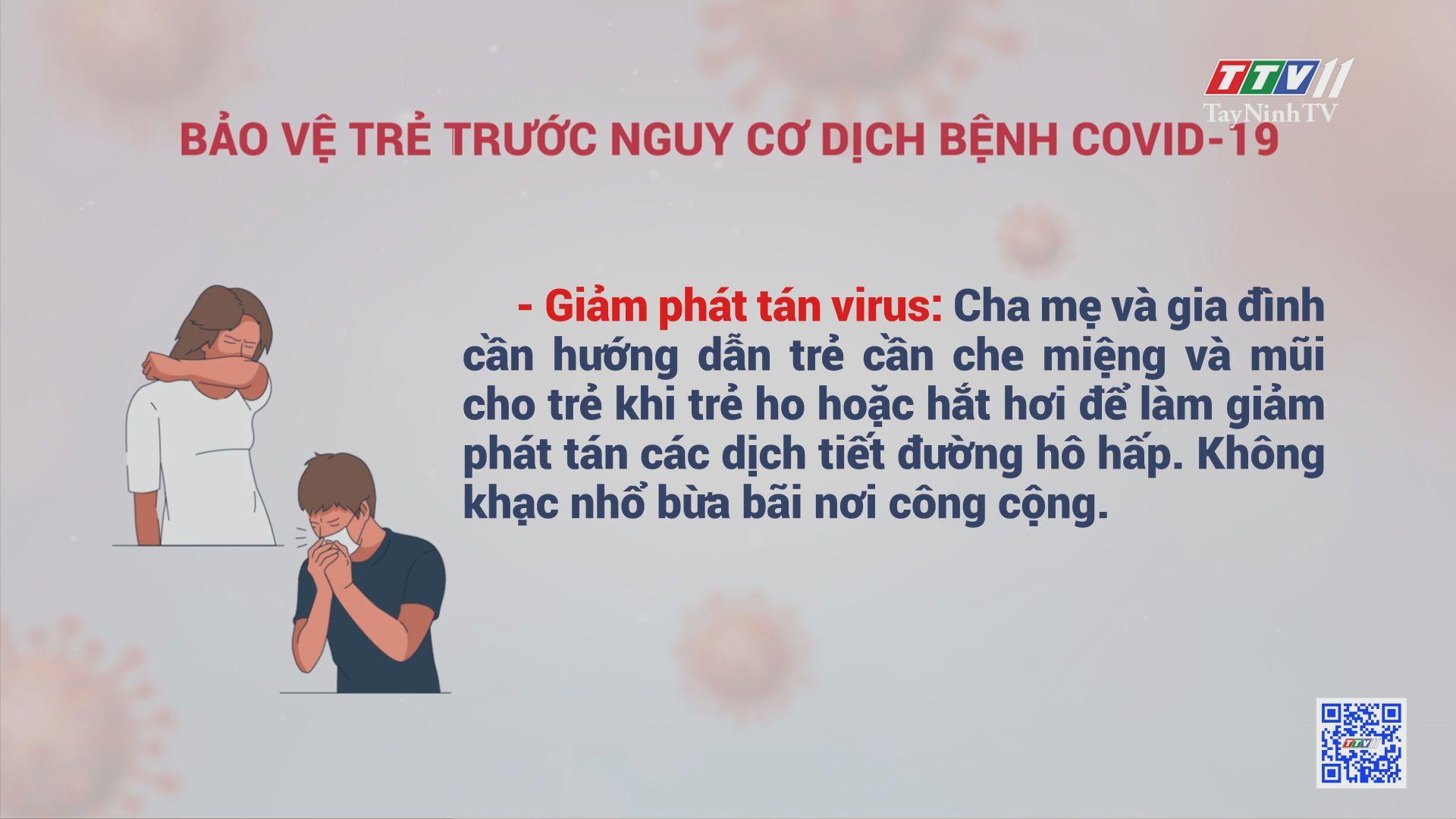 Bảo vệ trẻ trước nguy cơ dịch bệnh Covid-19 | TRANG TUỔI THƠ | TayNinhTV