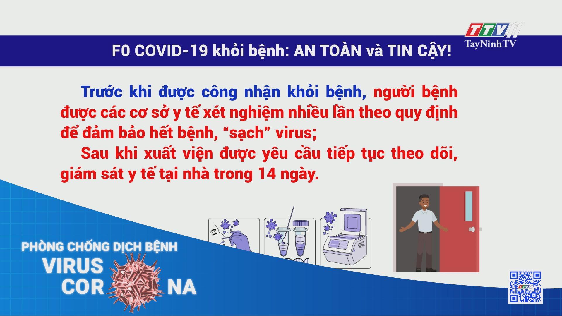 F0 Covid-19 khỏi bệnh: AN TOÀN và TIN CẬY | THÔNG TIN DỊCH COVID-19 | TayNinhTV