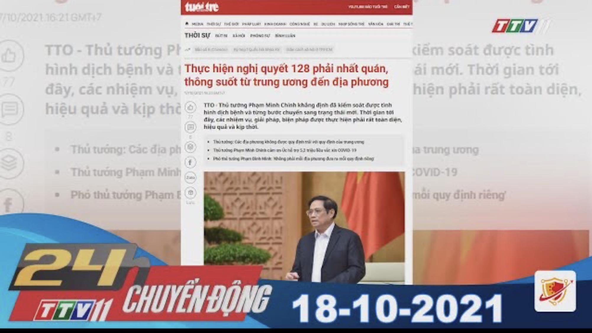 24H CHUYỂN ĐỘNG 18/10/2021 | Tin tức hôm nay | TayNinhTV