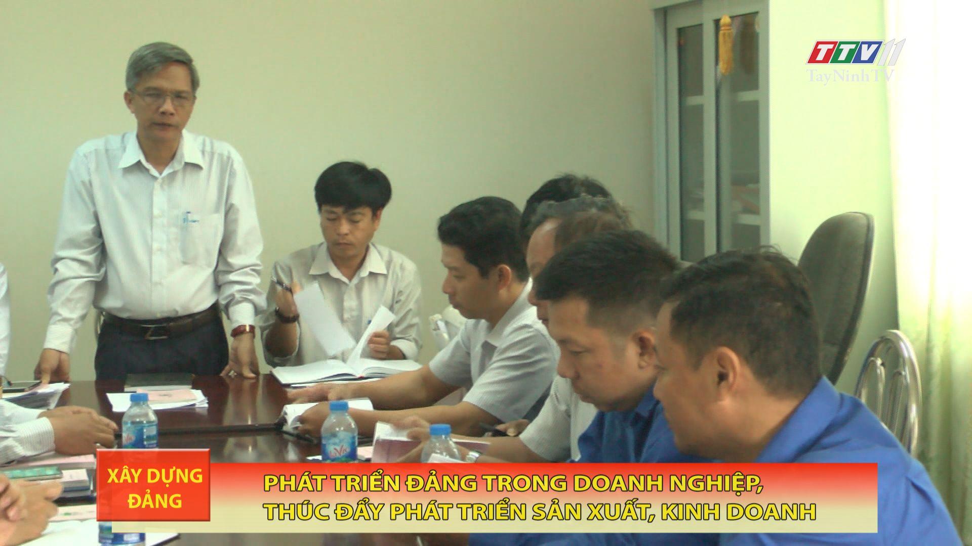 Phát triển đảng trong doanh nghiệp, thúc đẩy phát triển sản xuất, kinh doanh | TayNinhTV