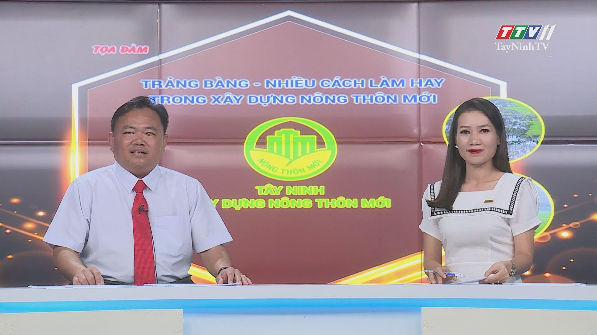 Trảng Bàng-Nhiều cách làm hay trong xây dựng nông thôn mới   TayNinhTV