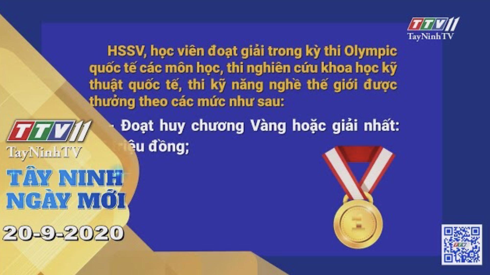 Tây Ninh Ngày Mới 20-9-2020 | Tin tức hôm nay | TayNinhTV