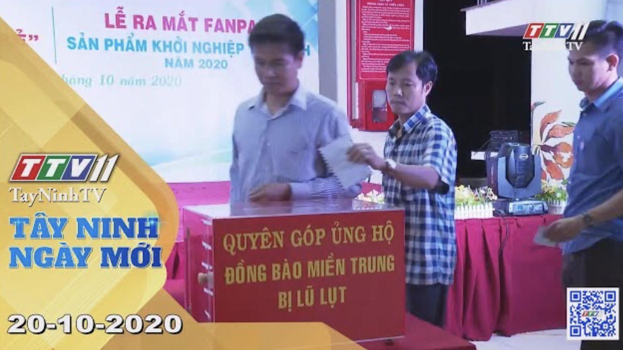 Tây Ninh Ngày Mới 20-10-2020 | Tin tức hôm nay | TayNinhTV