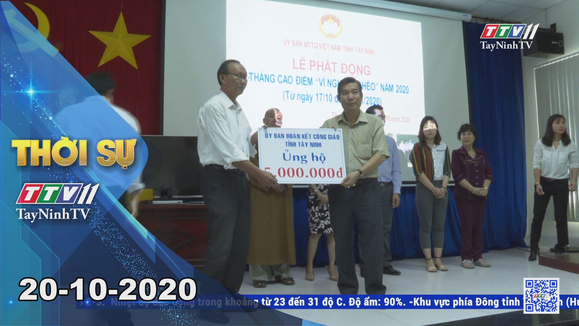 Thời sự Tây Ninh 20-10-2020 | Tin tức hôm nay | TayNinhTV