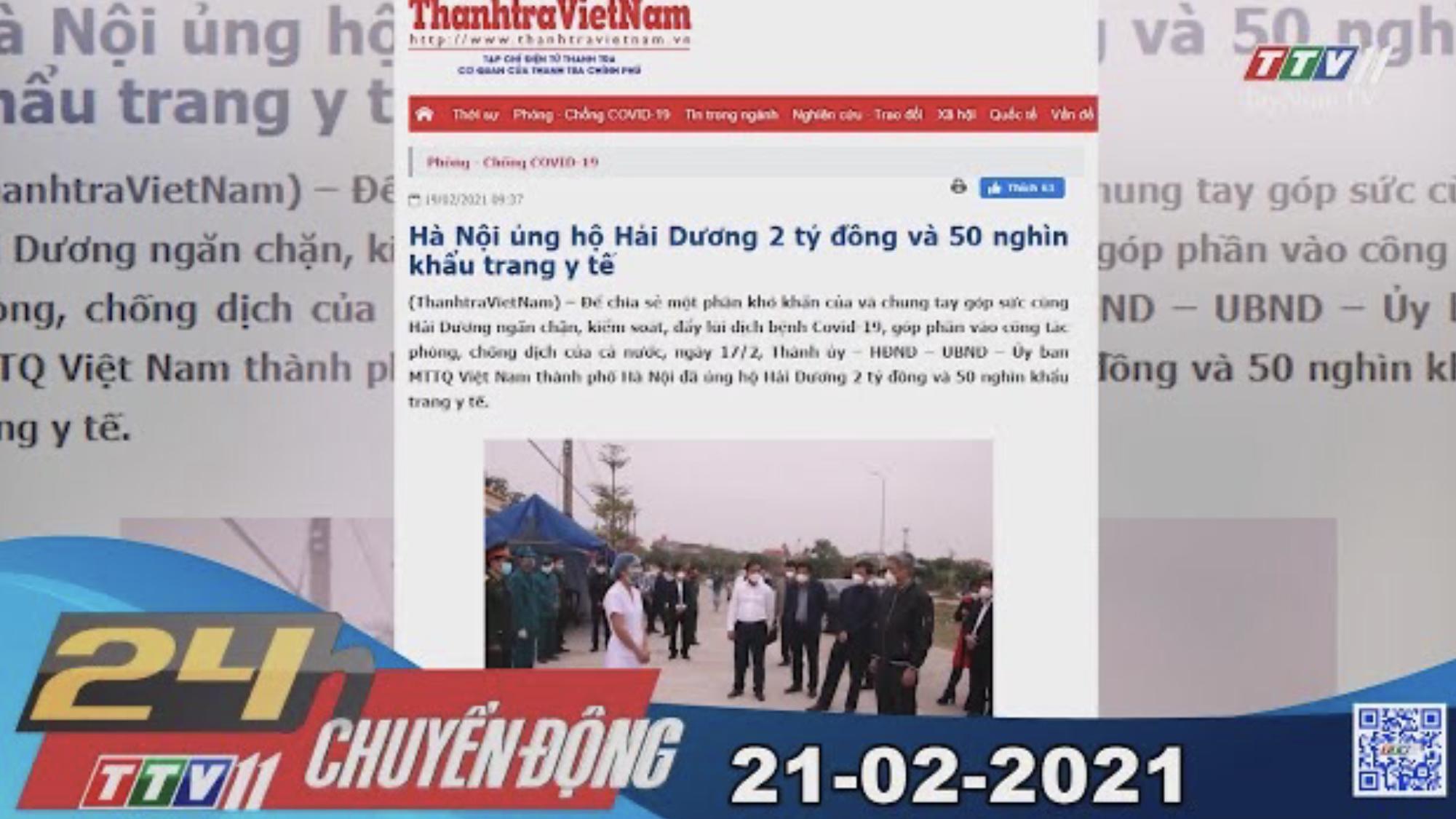 24h Chuyển động 21-02-2021 | Tin tức hôm nay | TayNinhTV