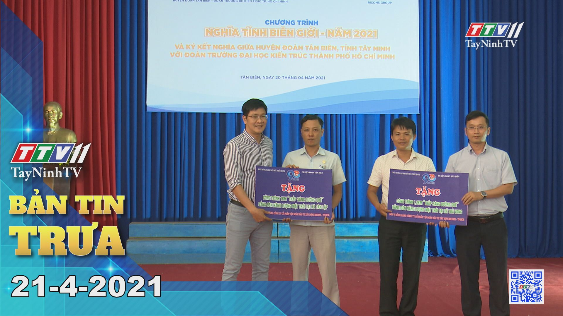 Bản tin trưa 21-4-2021 | Tin tức hôm nay | TayNinhTV