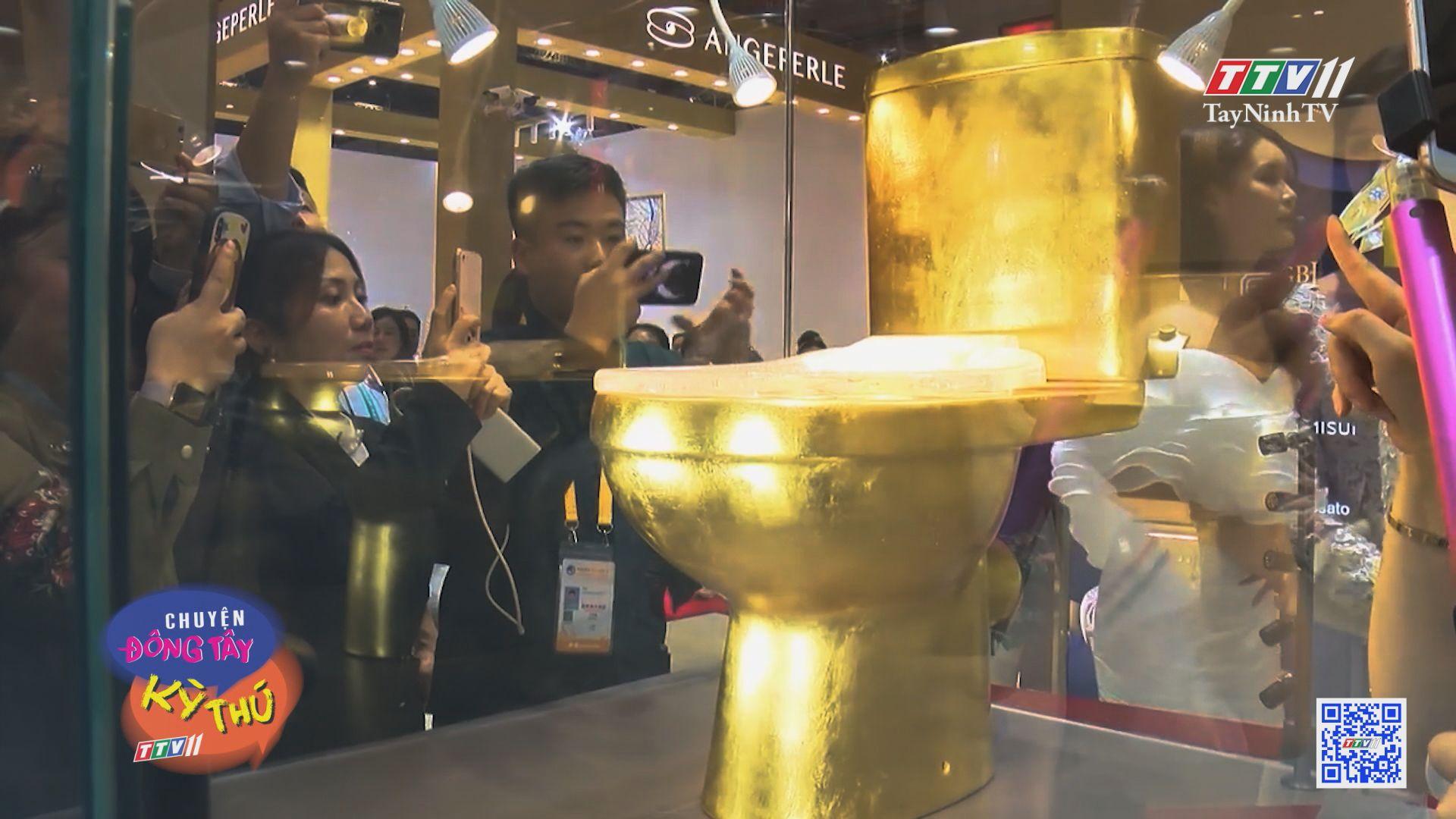 Bồn cầu dát vàng và đính hơn 40.000 viên kim cương | CHUYỆN ĐÔNG TÂY KỲ THÚ | TayNinhTVE