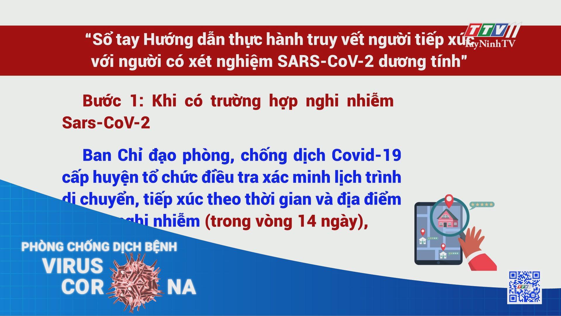 Sổ tay Hướng dẫn thực hành truy vết người tiếp xúc với người có xét nghiệm SARS-CoV-2 dương tính   THÔNG TIN DỊCH COVID-19   TayNinhTV