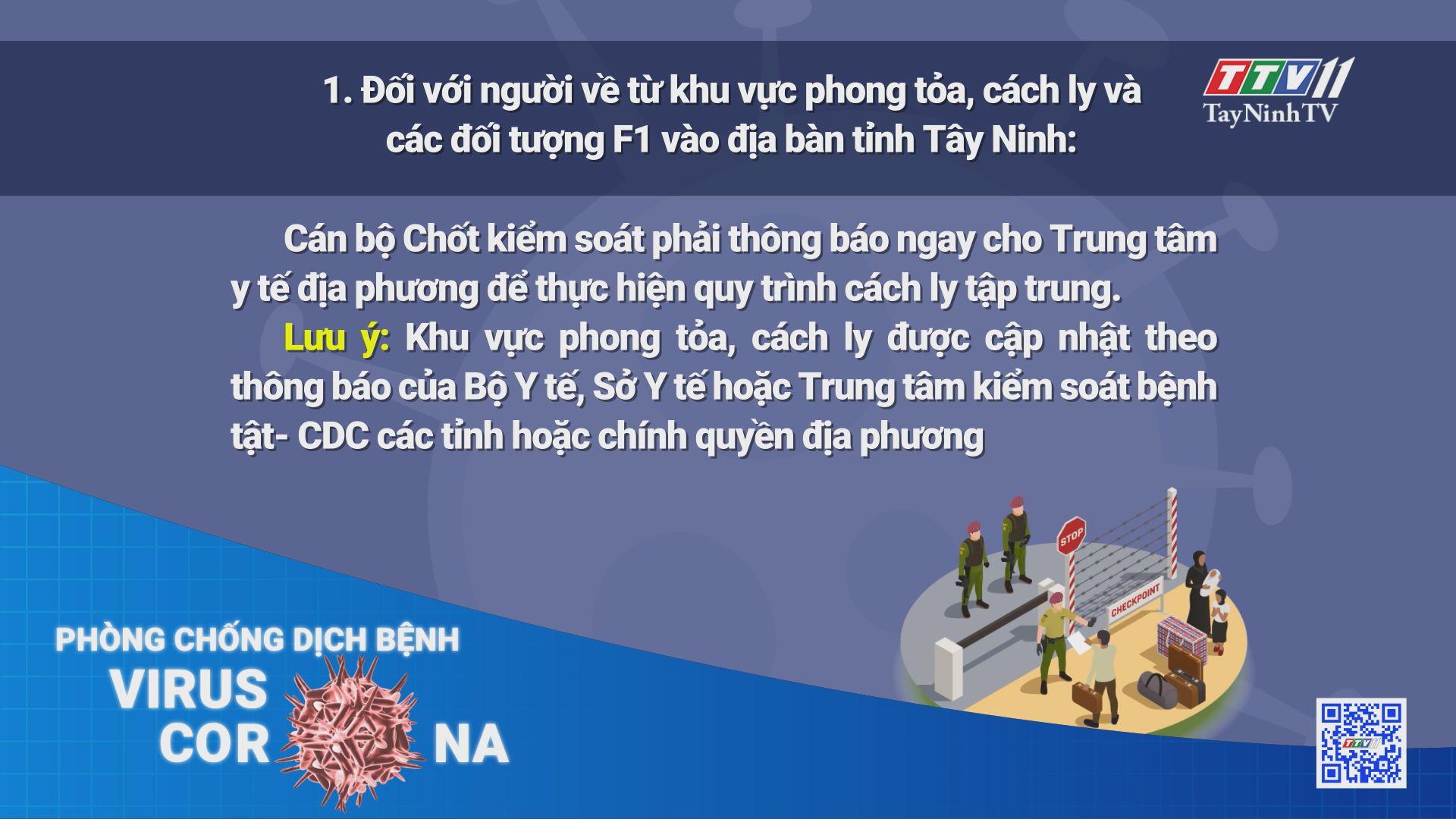 Kiểm soát phòng chống dịch COVID-19 đối với từng trường hợp người về từ các tỉnh, Thành phố vào địa phận tỉnh Tây Ninh   THÔNG TIN DỊCH COVID-19   TayNinhTV