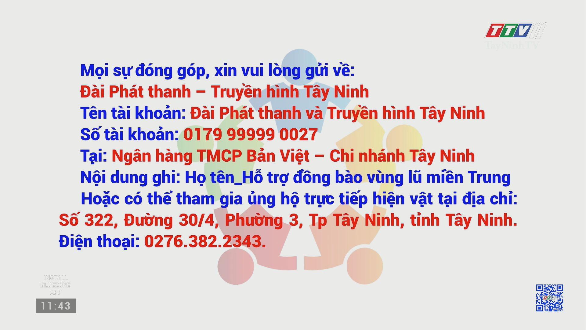 Thư kêu gọi ủng hộ đồng bào miền Trung bị bão lũ | HƯỚNG VỀ MIỀN TRUNG | TayNinhTV