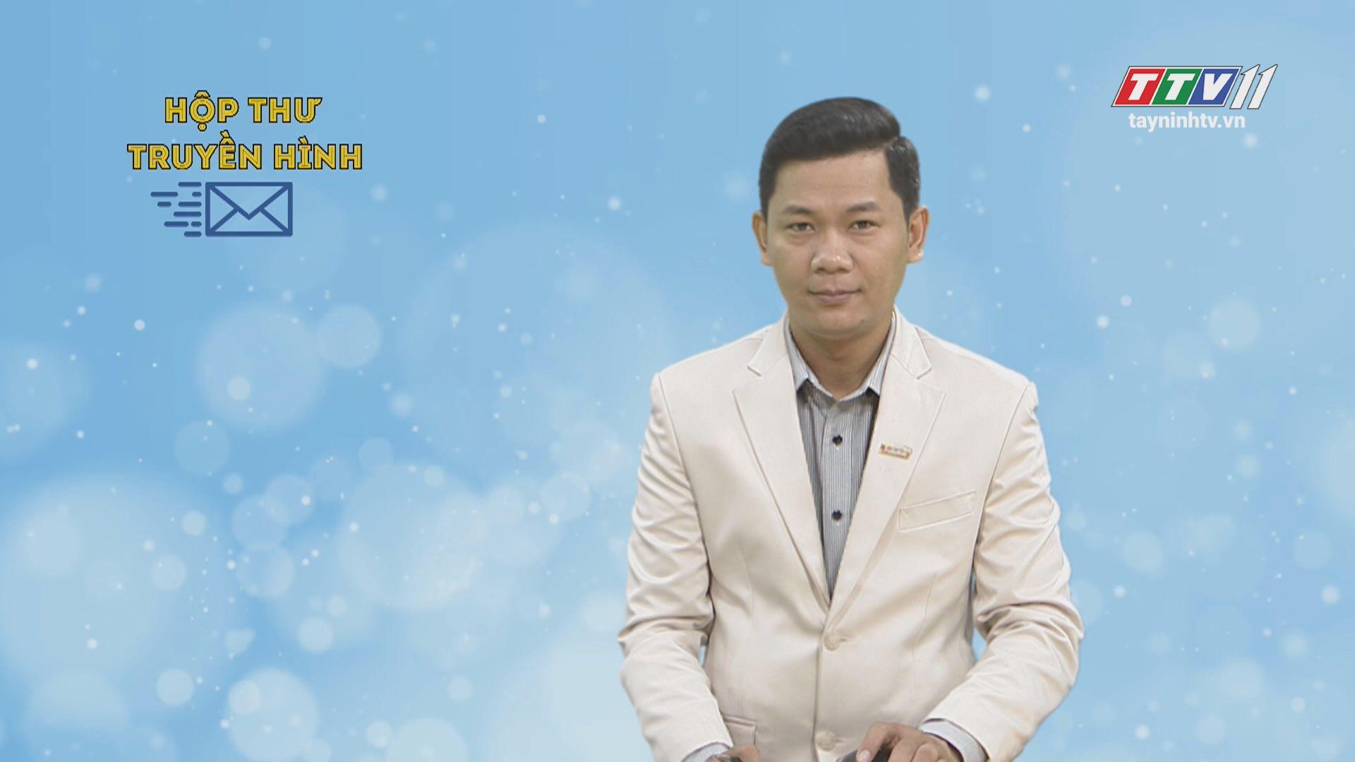 Hộp thư truyền hình 20-12-2019 | Tin tức hôm nay | TayNinhTV