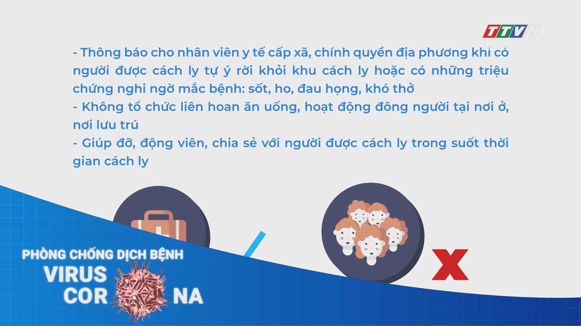 Những lưu ý khi thực hiện cách ly tại nhà nơi lưu trú | THÔNG TIN DỊCH CÚM COVID-19 | TayNinhTV