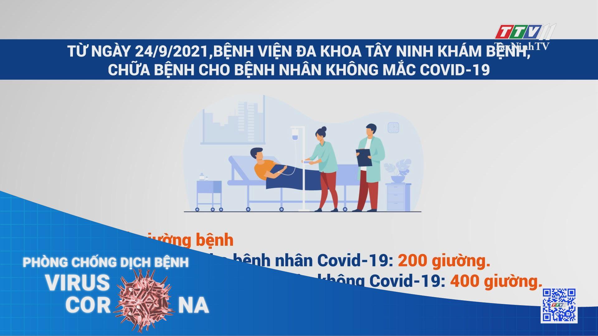 Từ ngày 24/9/2021,Bệnh viện Đa khoa Tây Ninh khám bệnh, chữa bệnh cho bệnh nhân không mắc Covid-19 | THÔNG TIN DỊCH COVID-19 | TayNinhTV