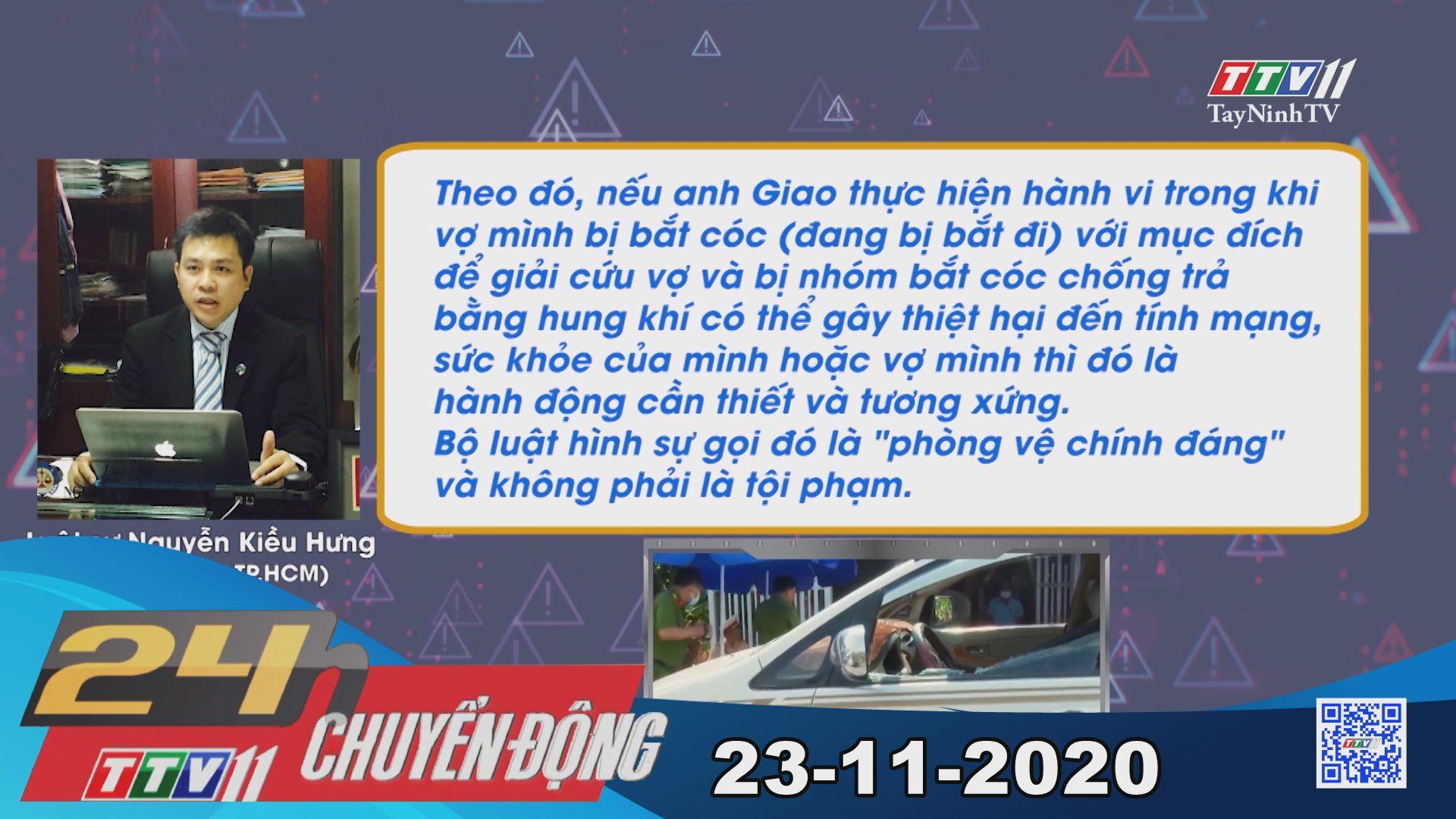 24h Chuyển động 23-11-2020 | Tin tức hôm nay | TayNinhTV