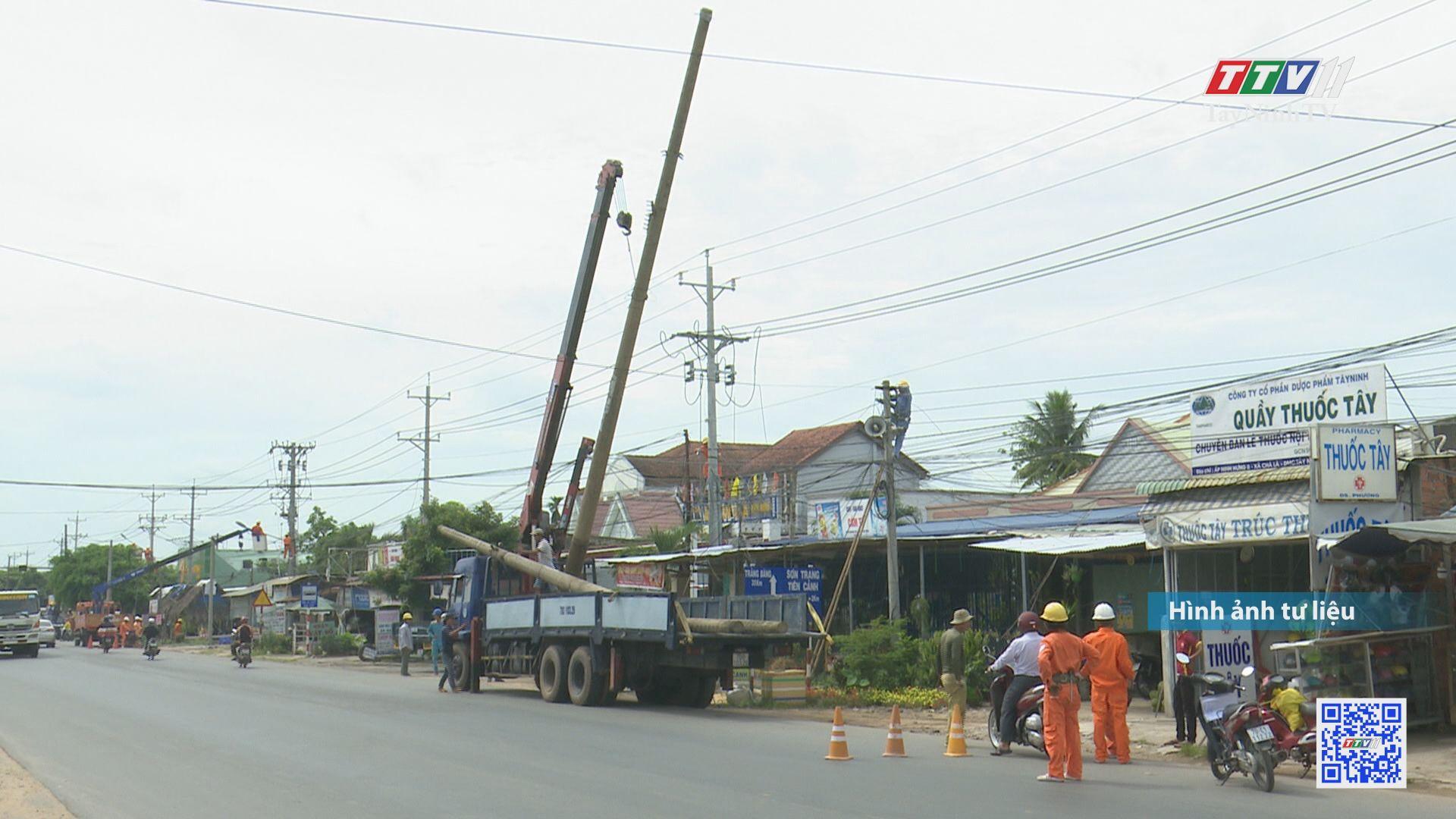 Di dời đường điện trên tuyến đường ĐT782-784, ngã ba Đất Sét-Bến Củi-Công trình trọng điểm của tỉnh | ĐIỆN VÀ CUỘC SỐNG | TayNinhTV