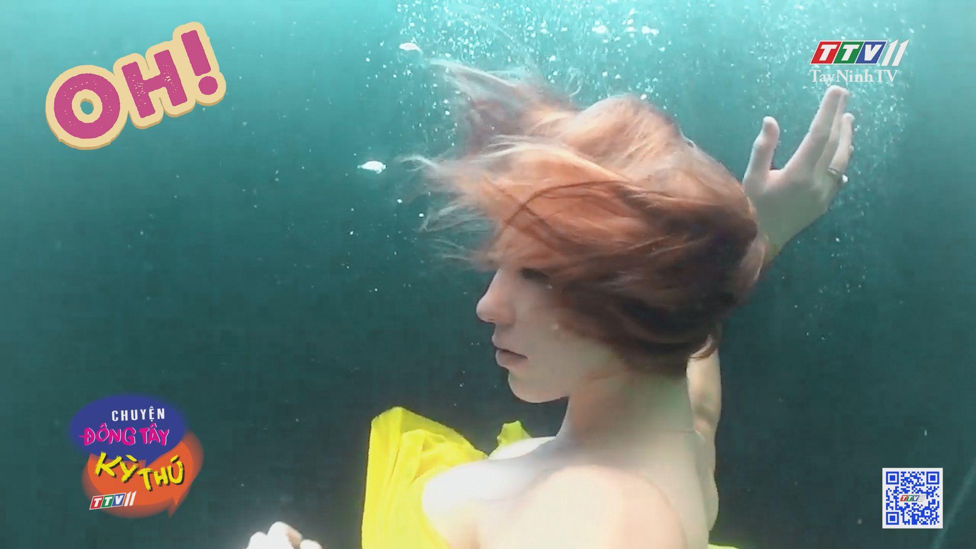 Độc đáo bộ ảnh nghệ thuật múa cột dưới nước | Đông tây kỳ thú | TayNinhTV