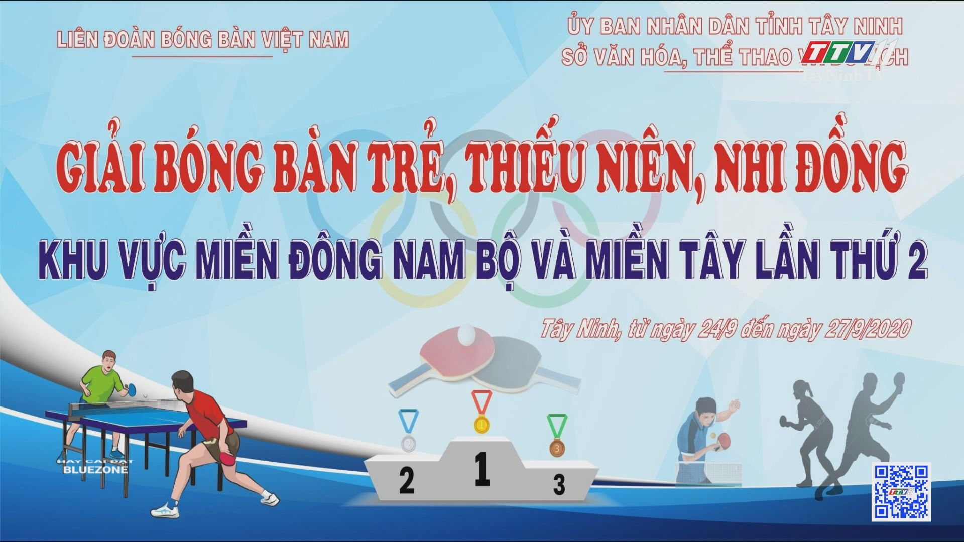 Tây Ninh sẽ tổ chức giải bóng bàn trẻ, thiếu niên, nhi đồng khu vực miền Đông Nam Bộ và miền Tây Nam Bộ lần thứ 2 | BẢN TIN THỂ THAO | TayNinhTV