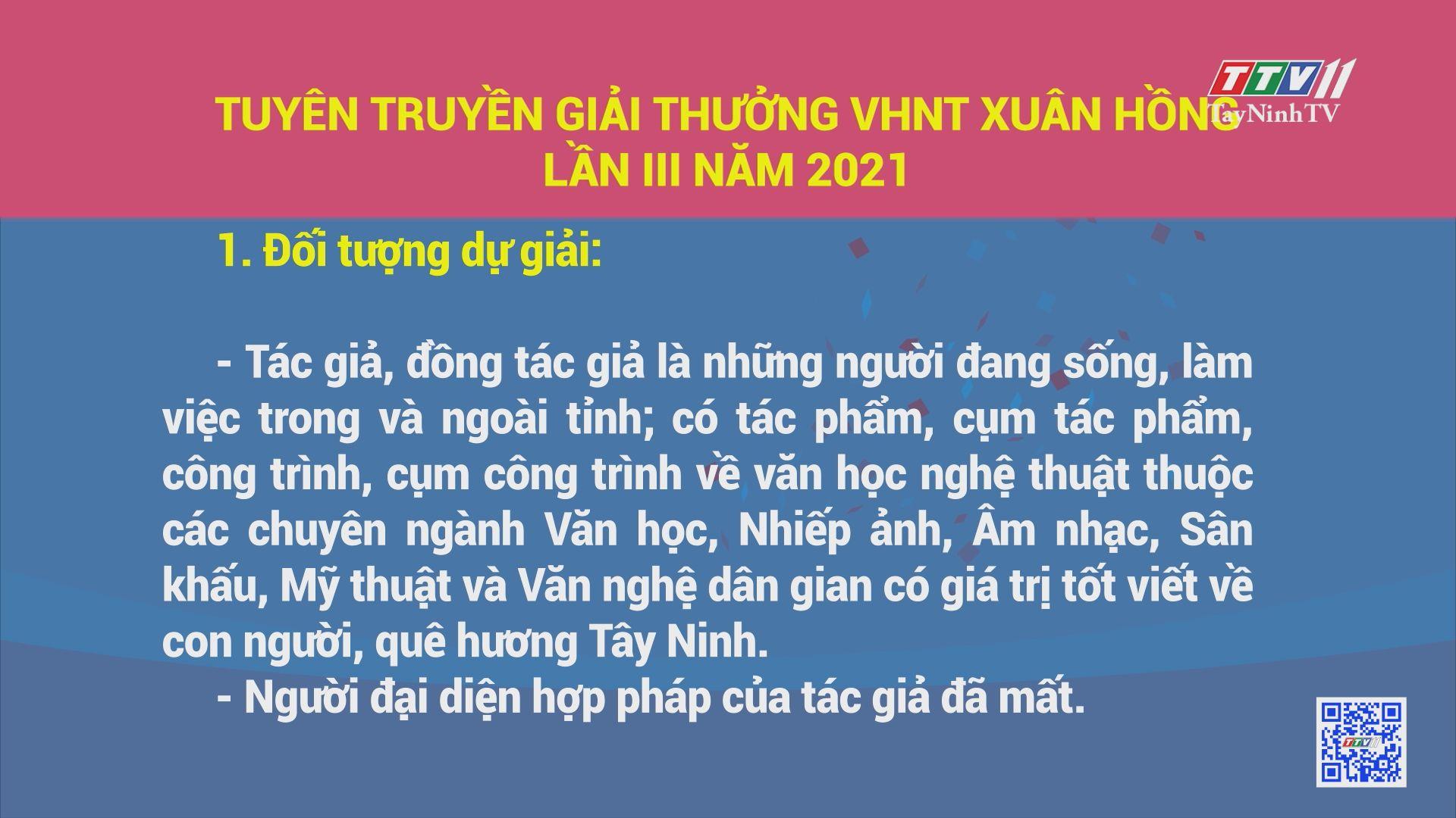 Tuyên truyền giải thưởng VHNT Xuân Hồng lần thứ III năm 2021 | TayNinhTV