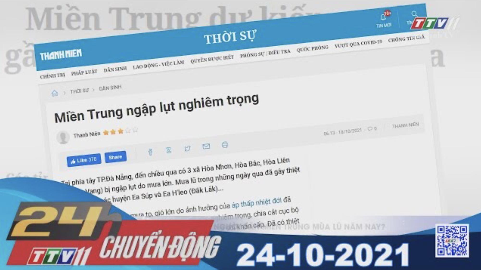 24H CHUYỂN ĐỘNG 24/10/2021 | Tin tức hôm nay | TayNinhTV