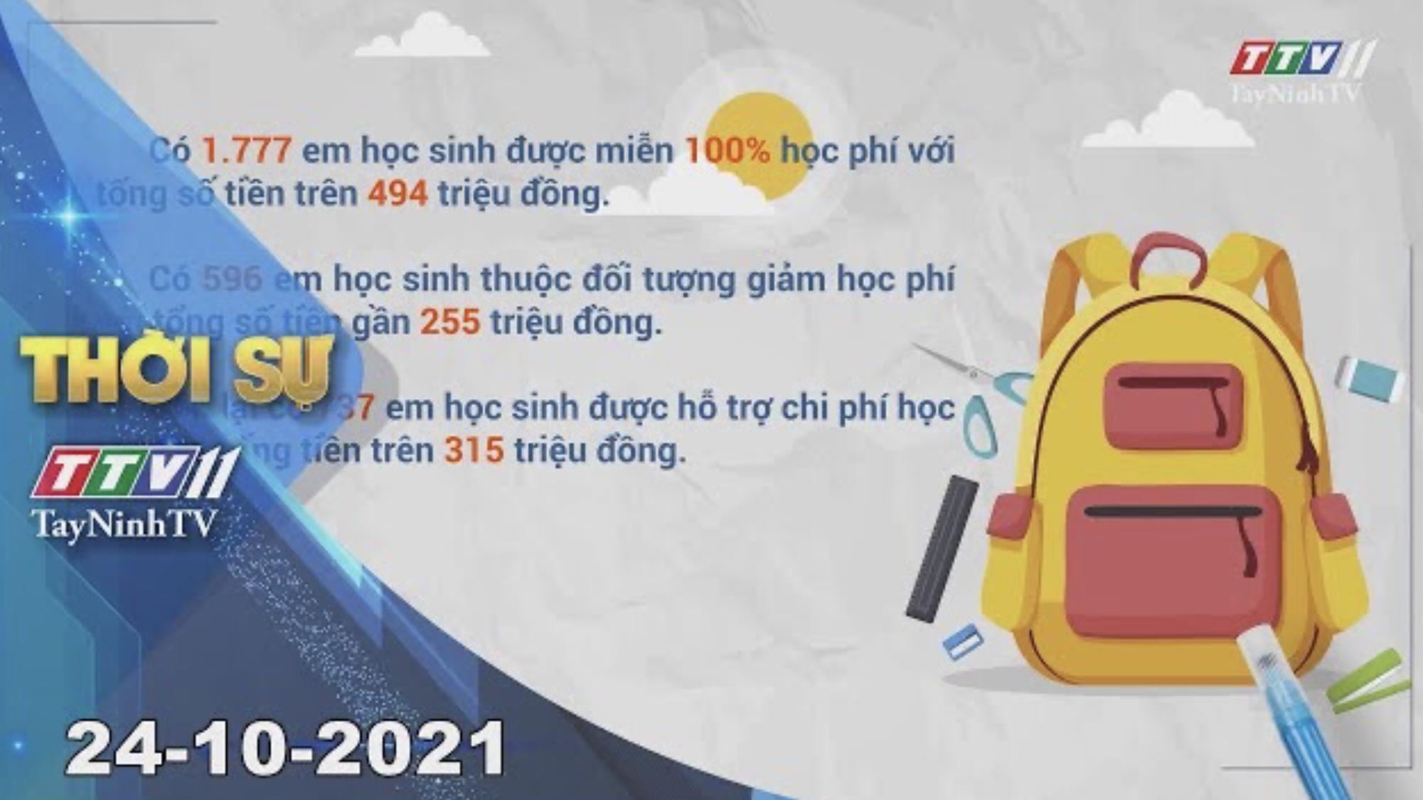 THỜI SỰ TÂY NINH 24/10/2021 | Tin tức hôm nay | TayNinhTV