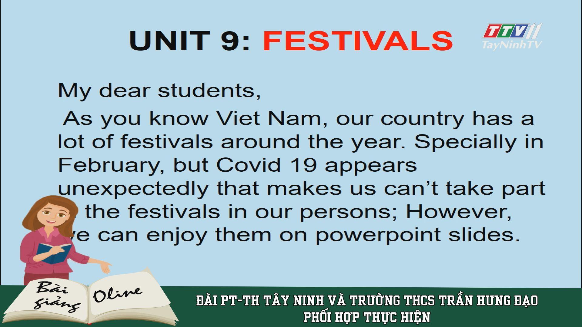 Unit 9: Festivals - ENGLISH 7 | ÔN TẬP TẠI NHÀ | TayNinhTV