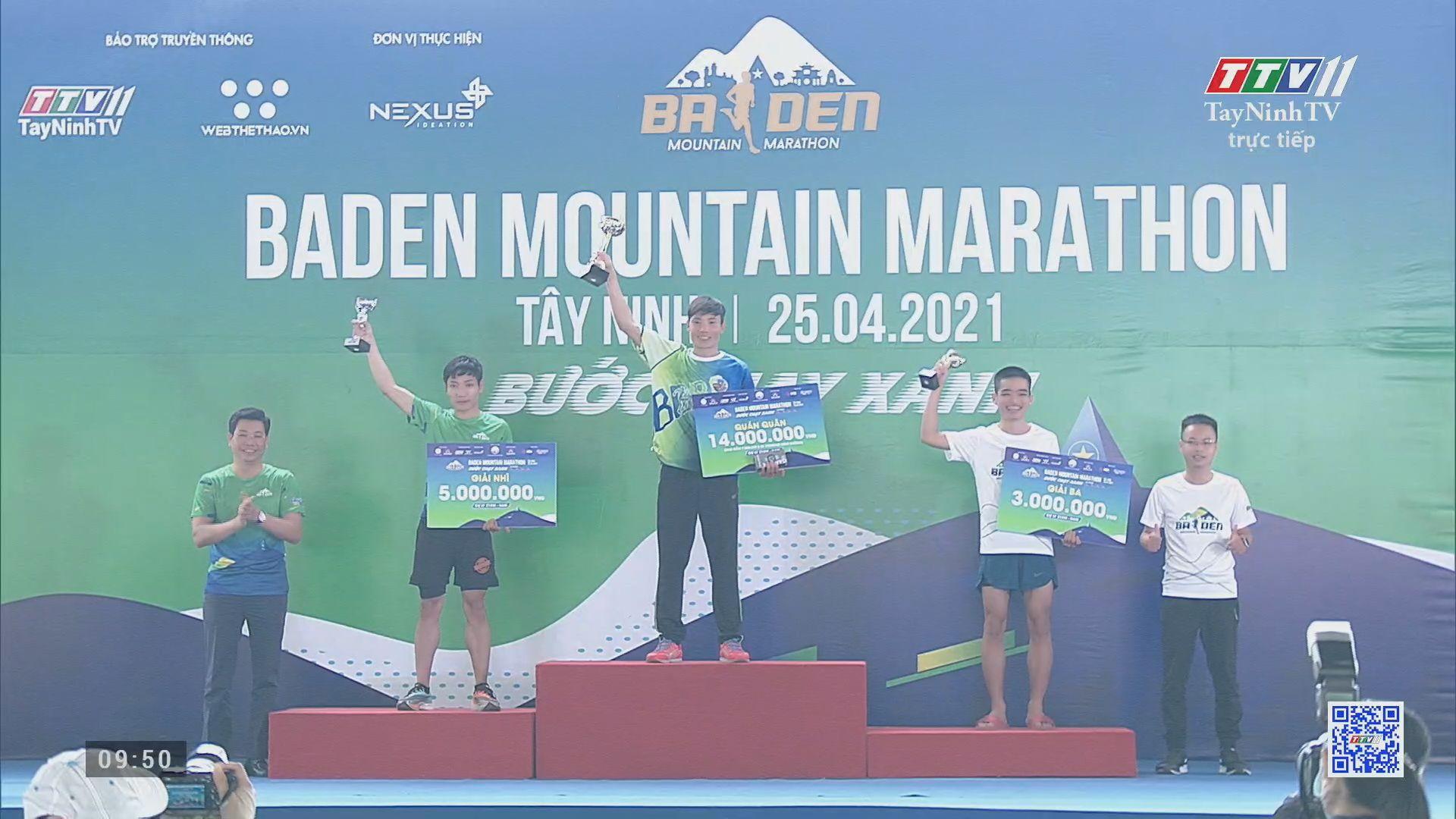 Trực tiếp PHẦN TRAO Giải BaDen Mountain Marathon tỉnh Tây Ninh lần thứ I năm 2021 | TayNinhTVE