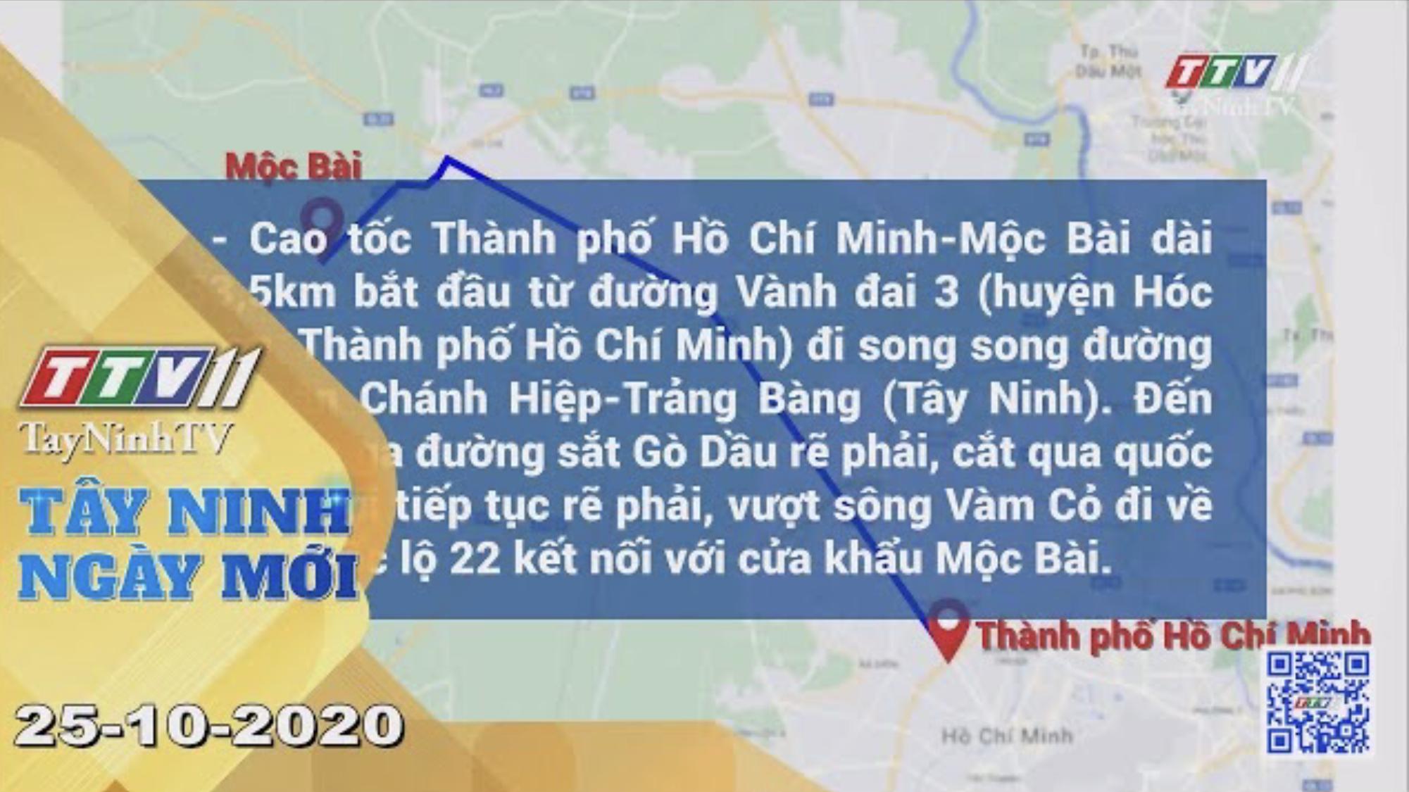 Tây Ninh Ngày Mới 25-10-2020 | Tin tức hôm nay | TayNinhTV
