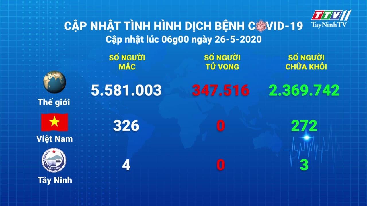 Cập nhật tình hình Covid-19 vào lúc 06 giờ 26-5-2020 | Thông tin dịch Covid-19 | TayNinhTV