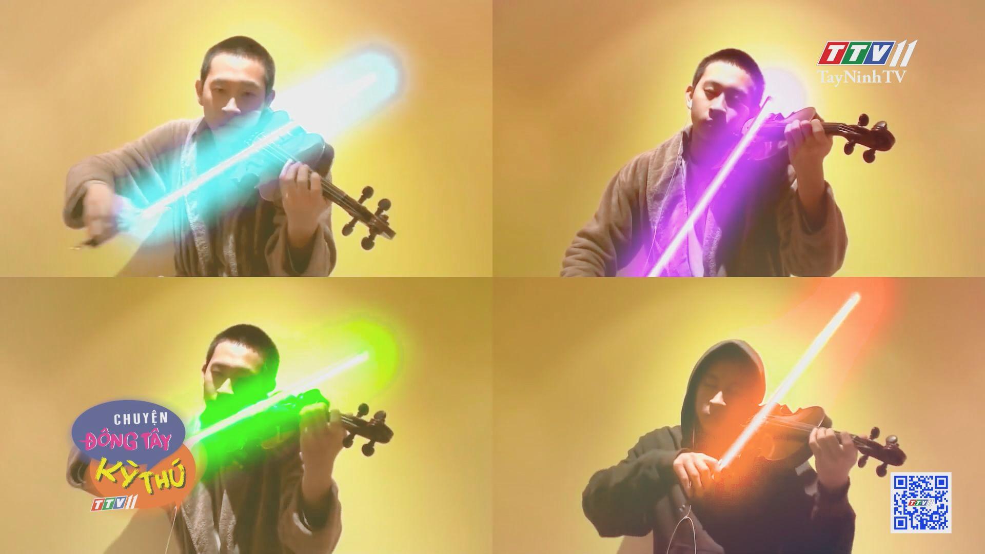 Chơi đàn violin bằng thanh kiếm ánh sáng trong phim star wars | CHUYỆN ĐÔNG TÂY KY THÚ | TayNinhTV