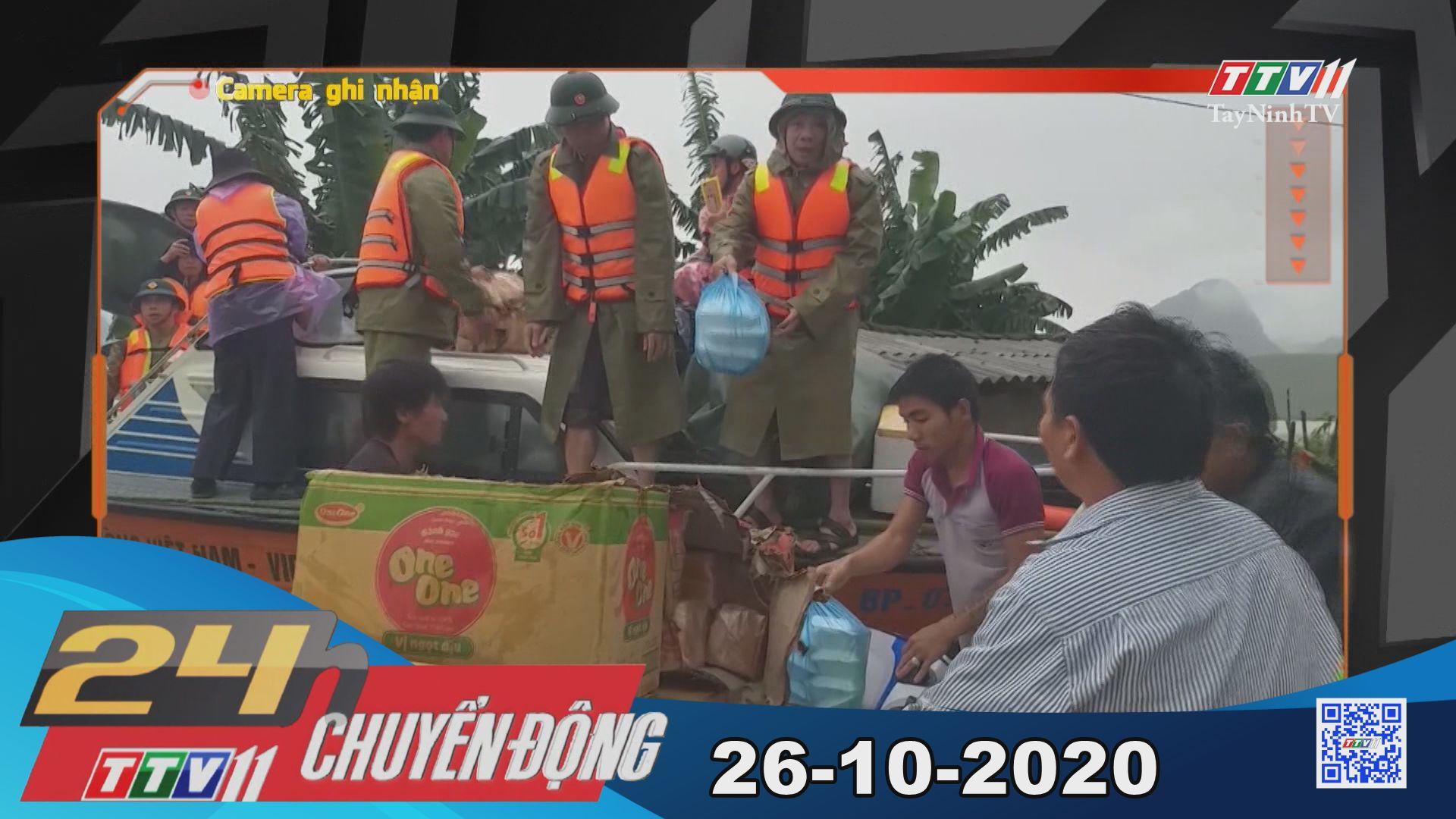 24h Chuyển động 26-10-2020 | Tin tức hôm nay | TayNinhTV