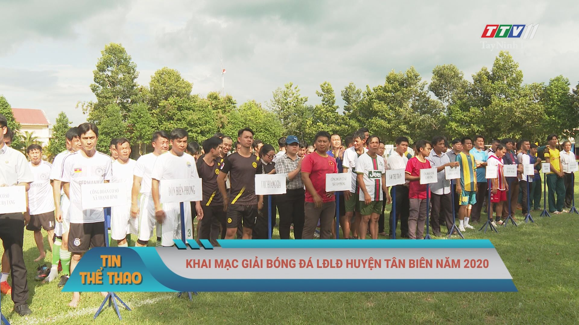 Khai mạc giải bóng đá LĐLĐ huyện tân biên năm 2020 | BẢN TIN THỂ THAO | TayNinhTV
