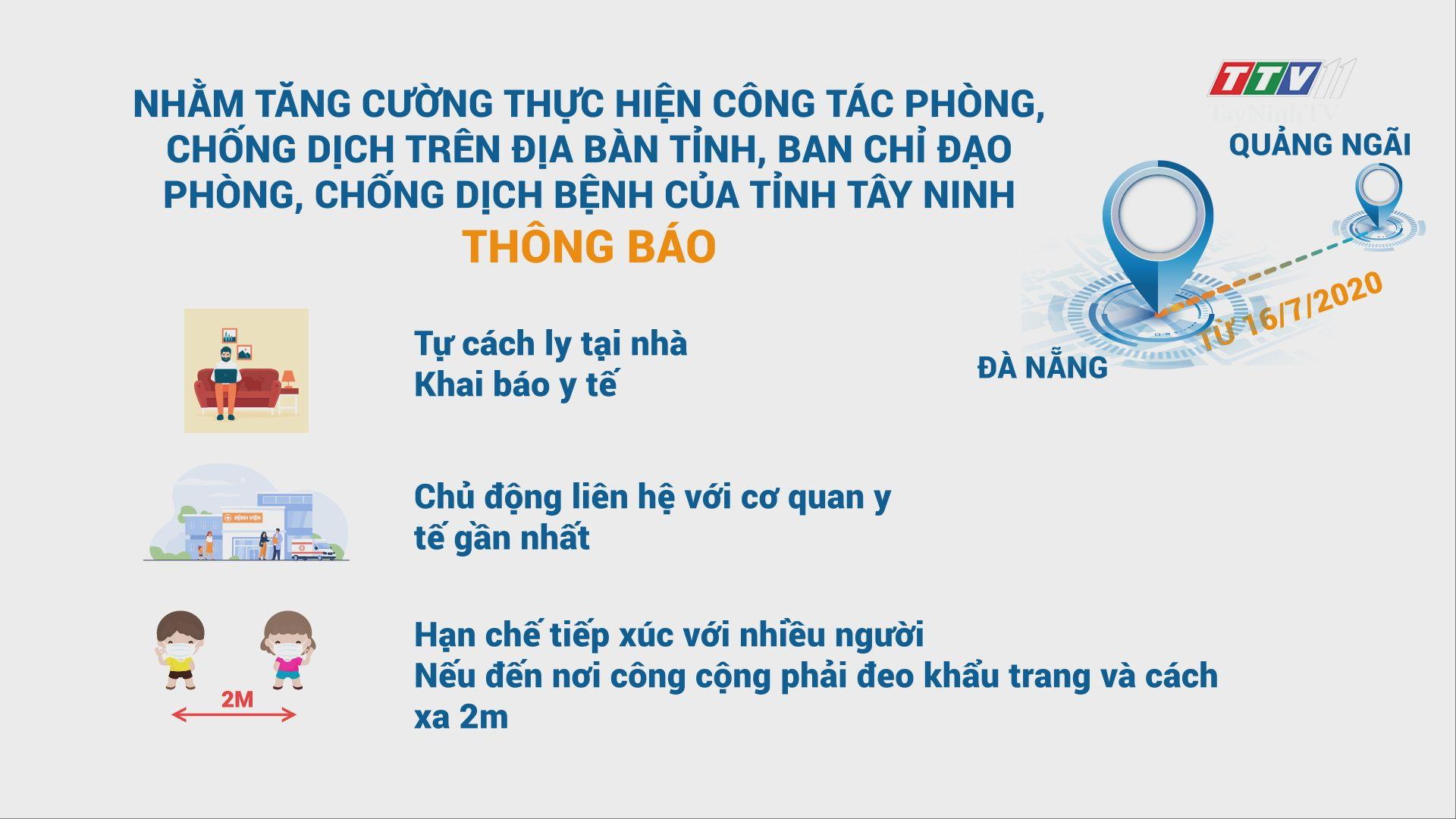 Ban Chỉ đạo phòng, chống dịch bệnh của tỉnh Tây Ninh thông báo | THÔNG TIN DỊCH CÚM COVID-19 | TayNinhTV