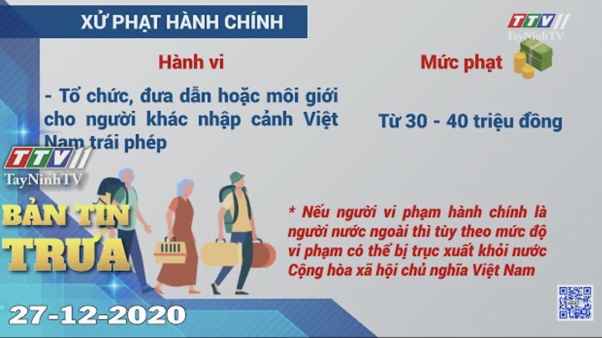Bản tin trưa 27-12-2020 | Tin tức hôm nay | TayNinhTV