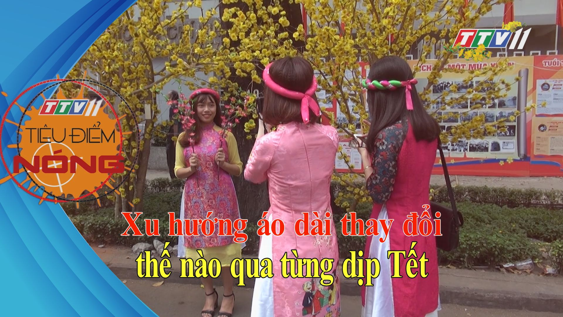 Xu hướng áo dài thay đổi như thế nào qua từng dịp Tết | Tiêu điểm nóng | TayNinhTV