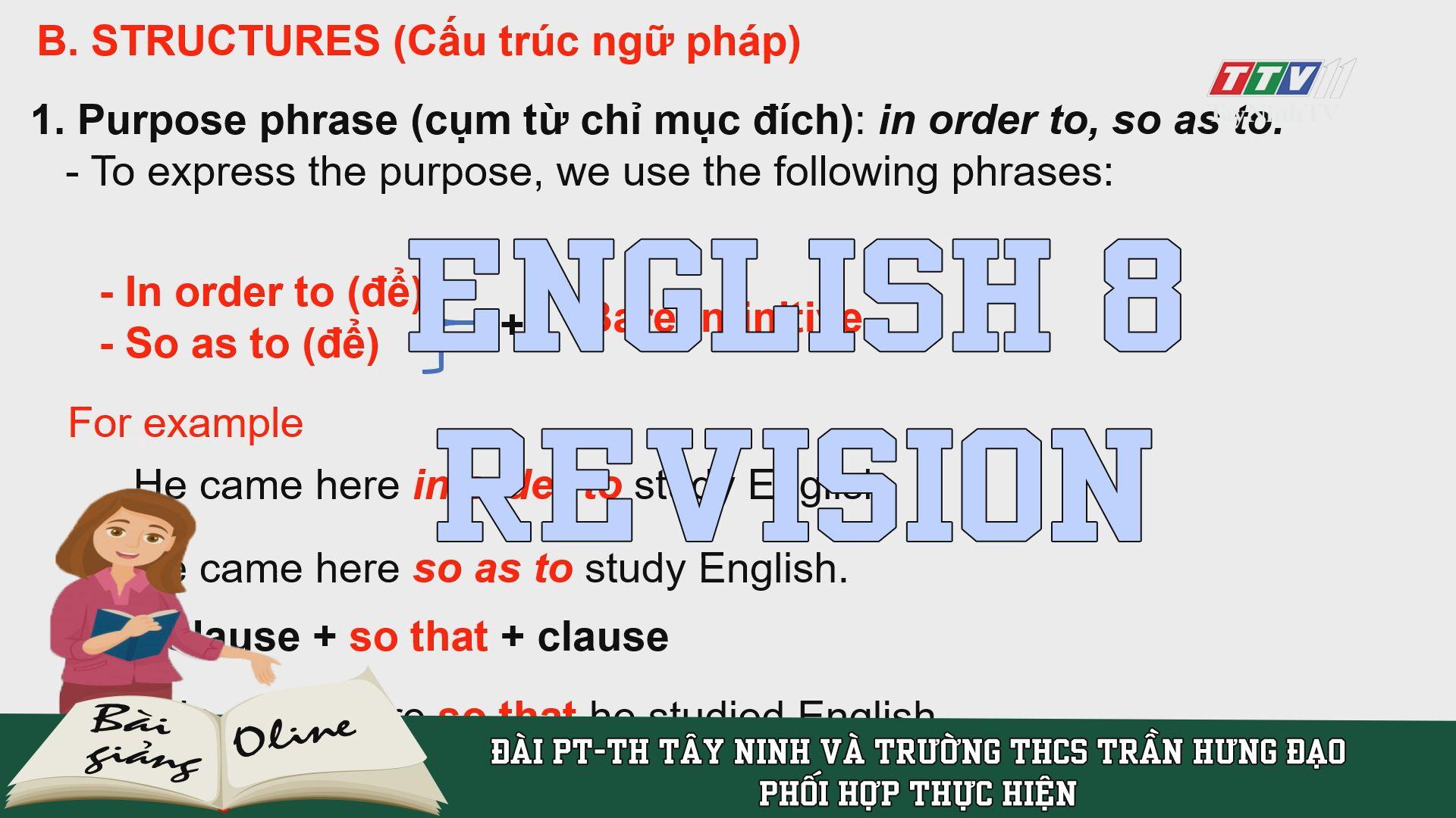 Revision - ENGLISH 8 | ÔN TẬP TẠI NHÀ | TayNinhTV